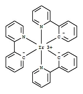 94928-86-6,Iridium,tris[2-(2-pyridinyl-kN)phenyl-kC]-,(OC-6-22)-,Iridium,tris[2-(2-pyridinyl)phenyl-C,N]-, (OC-6-22)-;Pyridine, 2-phenyl-, iridiumcomplex;fac-Ir(ppy)3;fac-Tris(2-(2-pyridinyl)phenyl)iridium;fac-Tris(2-phenylpyridinato-N,C2')iridium;fac-Tris(2-phenylpyridine)iridium;