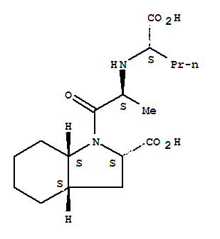 Molecular Structure of 95153-31-4 (1H-Indole-2-carboxylicacid, 1-[(2S)-2-[[(1S)-1-carboxybutyl]amino]-1-oxopropyl]octahydro-,(2S,3aS,7aS)-)