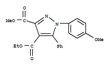 96722-66-6,1H-Pyrazole-3,4-dicarboxylicacid, 1-(4-methoxyphenyl)-5-phenyl-, 4-ethyl 3-methyl ester,