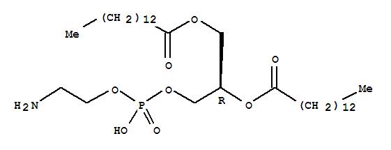 Molecular Structure of 998-07-2 (Tetradecanoic acid,(1R)-1-[[[(2-aminoethoxy)hydroxyphosphinyl]oxy]methyl]-1,2-ethanediyl ester)