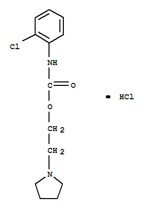 100836-82-6,Carbamic acid,(2-chlorophenyl)-, 2-(1-pyrrolidinyl)ethyl ester, monohydrochloride (9CI),