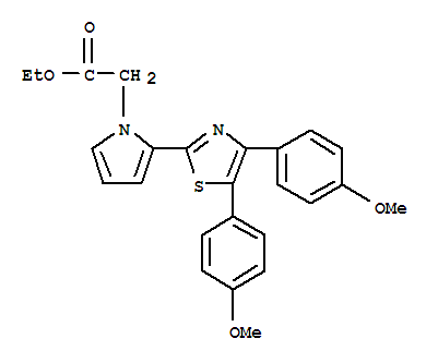 1H-Pyrrole-1-acetic acid, 2-[4,5-bis(4-methoxyphenyl)-2-thiazolyl]-, ethylester