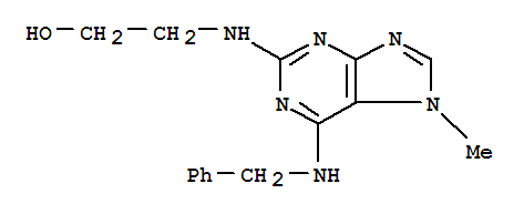 Molecular Structure of 101622-50-8 (6-Benzylamino-2-(2-hydroxyethylamino)-7-methylpurine)
