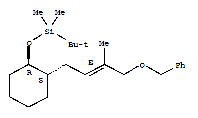 101859-32-9,Silane,(1,1-dimethylethyl)dimethyl[[2-[3-methyl-4-(phenylmethoxy)-2-butenyl]cyclohexyl]oxy]-,[1a,2b(E)]- (9CI),