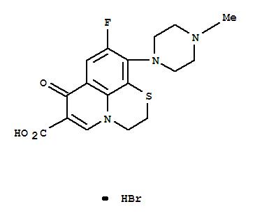 102052-47-1,7H-Pyrido[1,2,3-de]-1,4-benzothiazine-6-carboxylicacid, 9-fluoro-2,3-dihydro-10-(4-methyl-1-piperazinyl)-7-oxo-, hydrobromide(1:1),7H-Pyrido[1,2,3-de]-1,4-benzothiazine-6-carboxylicacid, 9-fluoro-2,3-dihydro-10-(4-methyl-1-piperazinyl)-7-oxo-, monohydrobromide(9CI); MF 934