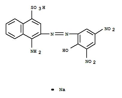 10214-05-8,1-Naphthalenesulfonicacid, 4-amino-3-[2-(2-hydroxy-3,5-dinitrophenyl)diazenyl]-, sodium salt (1:1),1-Naphthalenesulfonicacid, 4-amino-3-[(2-hydroxy-3,5-dinitrophenyl)azo]-, monosodium salt (8CI,9CI);Anthracyl Chrome Green D739; C.I. 13360; Chrome Dark Green BN