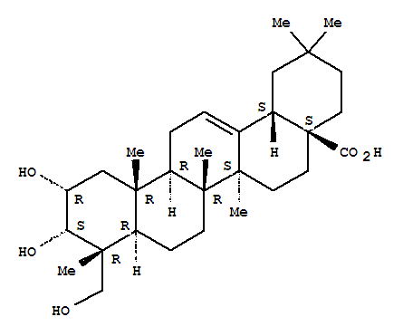 Molecular Structure of 102519-34-6 (Olean-12-en-28-oicacid, 2,3,23-trihydroxy-, (2a,3a,4a)-)