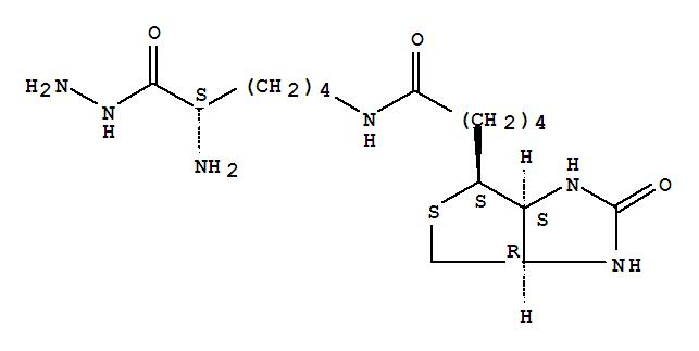 L-Lysine,N6-[5-[(3aS,4S,6aR)-hexahydro-2-oxo-1H-thieno[3,4-d]imidazol-4-yl]-1-oxopentyl]-,hydrazide