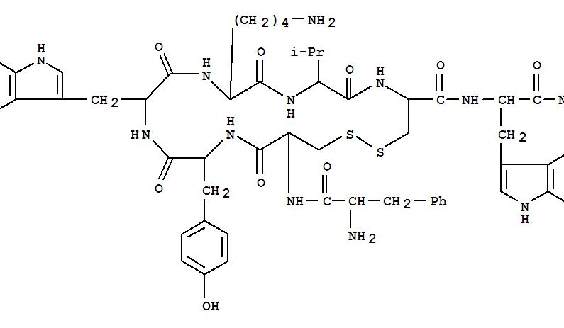 L-Tryptophanamide,D-phenylalanyl-L-cysteinyl-L-tyrosyl-D-tryptophyl-L-lysyl-L-valyl-L-cysteinyl-,cyclic (2®7)-disulfide product picture