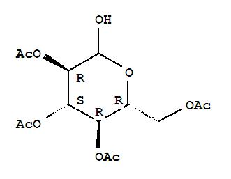 Molecular Structure of 10343-06-3 (D-Glucopyranose,2,3,4,6-tetraacetate)
