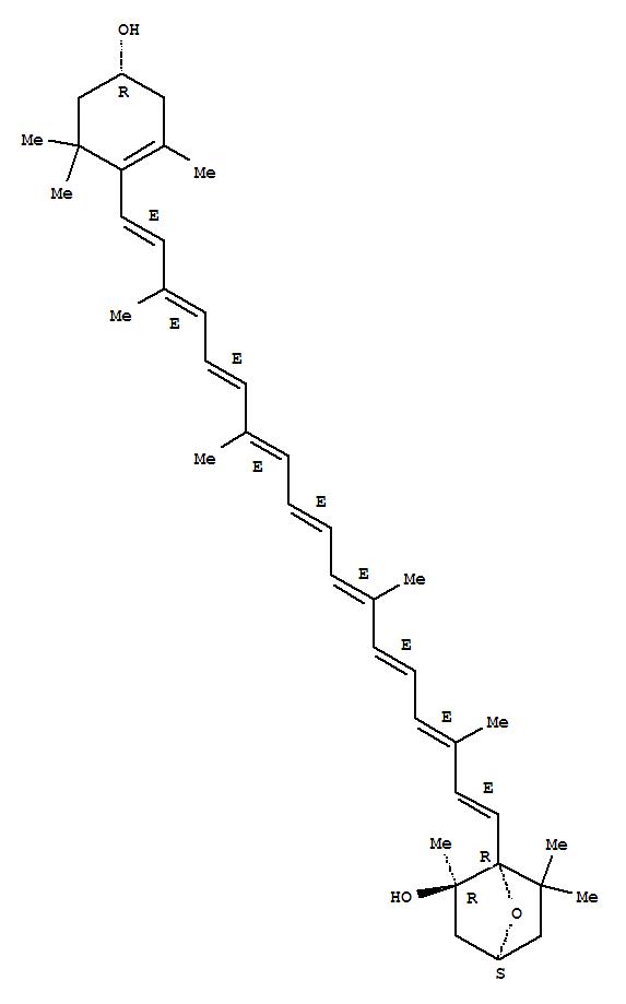 Molecular Structure of 103955-77-7 (b,b-Carotene, 3,6-epoxy-5,6-dihydro-3',5-dihydroxy-,(3S,3'R,5R,6R)-)