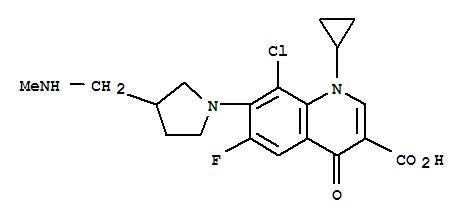 104455-87-0,3-Quinolinecarboxylicacid,8-chloro-1-cyclopropyl-6-fluoro-1,4-dihydro-7-[3-[(methylamino)methyl]-1-pyrrolidinyl]-4-oxo-,