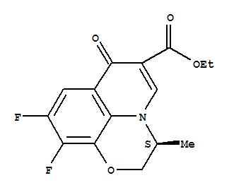 Molecular Structure of 106939-34-8 (Ethyl (S)-9,10-difluoro-3-methyl-7-oxo-2,3-dihydro-7H-pyrido[1,2,3-de]-1,4-benzoxazine-6-carboxylate)