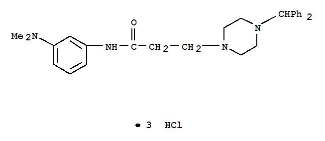 107314-65-8,1-Piperazinepropanamide,N-[3-(dimethylamino)phenyl]-4-(diphenylmethyl)-, hydrochloride (1:3),1-Piperazinepropanamide,N-[3-(dimethylamino)phenyl]-4-(diphenylmethyl)-, trihydrochloride (9CI)