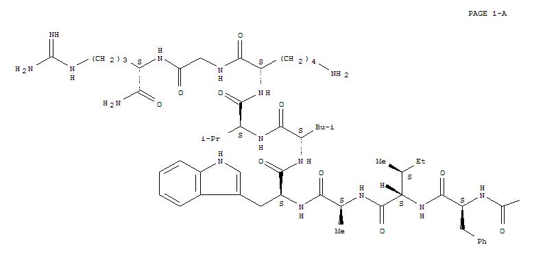 CAS NO:107444-51-9 Glucagon-like peptide I (7-36) Molecular Structure