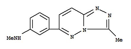 Molecular Structure of 108810-87-3 (Benzenamine,N-methyl-3-(3-methyl-1,2,4-triazolo[4,3-b]pyridazin-6-yl)-)