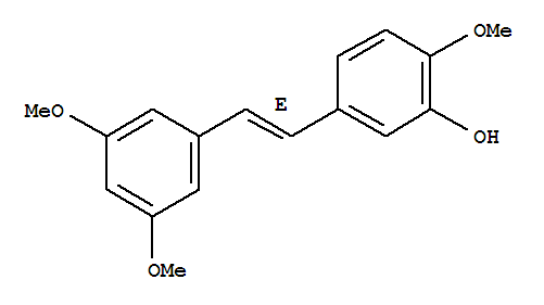 Molecular Structure of 108957-73-9 ((E)-3'-Hydroxy-3,5,4'-trimethoxystilbene)