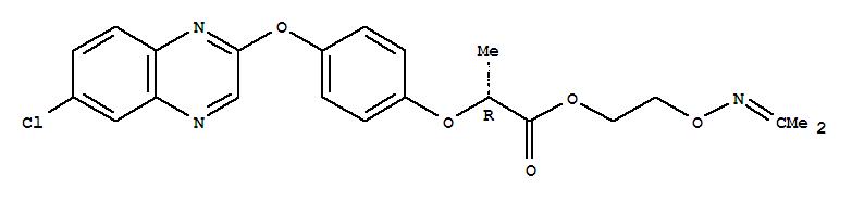 Molecular Structure of 111479-05-1 (Propanoic acid,2-[4-[(6-chloro-2-quinoxalinyl)oxy]phenoxy]-,2-[[(1-methylethylidene)amino]oxy]ethyl ester, (2R)-)