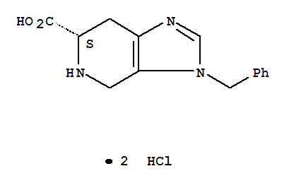 Molecular Structure of 114788-05-5 (3H-Imidazo[4,5-c]pyridine-6-carboxylicacid, 4,5,6,7-tetrahydro-3-(phenylmethyl)-, dihydrochloride, (S)- (9CI))