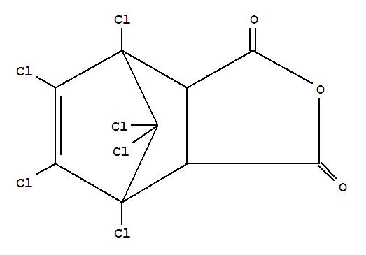 Molecular Structure of 115-27-5 (4,7-Methanoisobenzofuran-1,3-dione,4,5,6,7,8,8-hexachloro-3a,4,7,7a-tetrahydro-)