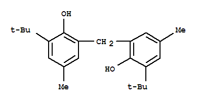 Molecular Structure of 119-47-1 (Phenol,2,2'-methylenebis[6-(1,1-dimethylethyl)-4-methyl-)