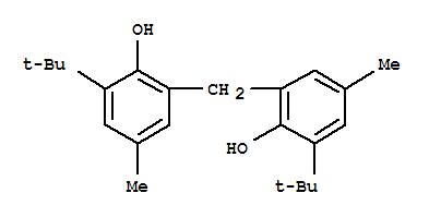 Molecular Structure of 119-47-1 (Phenol,2,2'-methylenebis[6-(1,1-dimethylethyl)-4-methyl-)