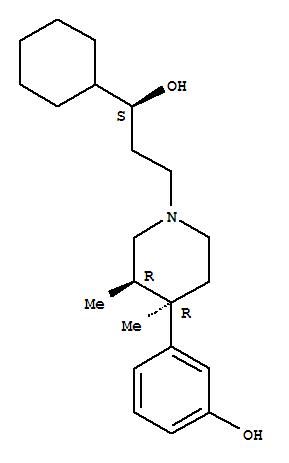 119193-09-8,1-Piperidinepropanol, a-cyclohexyl-4-(3-hydroxyphenyl)-3,4-dimethyl-,(aS,3R,4R)-,1-Piperidinepropanol,a-cyclohexyl-4-(3-hydroxyphenyl)-3,4-dimethyl-,[3R-[1(S*),3a,4a]]-; LY 255582