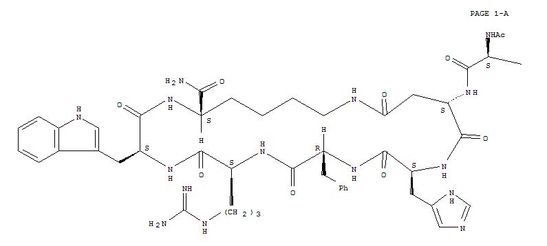 Molecular Structure of 121062-08-6 (Melanotan II)