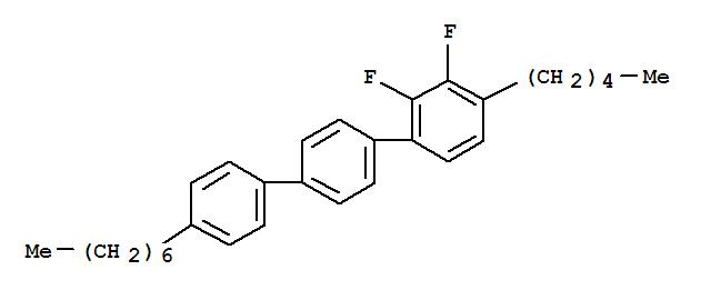 CAS NO:121218-85-7 1,1':4',1''-Terphenyl,2,3-difluoro-4''-heptyl-4-pentyl- Molecular Structure