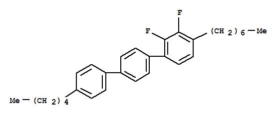 CAS NO:121218-90-4 1,1':4',1''-Terphenyl,2,3-difluoro-4-heptyl-4''-pentyl- Molecular Structure