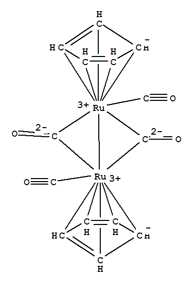 Molecular Structure of 12132-87-5 (Ruthenium, di-m-carbonyldicarbonylbis(h5-2,4-cyclopentadien-1-yl)di-,(Ru-Ru))