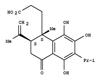 122717-37-7,1-Naphthalenepropanoicacid,1,2,3,4-tetrahydro-5,7,8-trihydroxy-1-methyl-2-(1-methylethenyl)-6-(1-methylethyl)-4-oxo-,(1S,2S)-,1-Naphthalenepropanoicacid, 1,2,3,4-tetrahydro-5,7,8-trihydroxy-1-methyl-2-(1-methylethenyl)-6-(1-methylethyl)-4-oxo-,(1S-trans)-; Candesalvone B