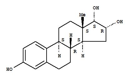Molecular Structure of 1228-72-4 (Estra-1,3,5(10)-triene-3,16,17-triol,(16a,17a)-)