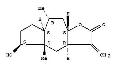Molecular Structure of 122872-03-1 (Azuleno[6,5-b]furan-2(3H)-one,decahydro-5-hydroxy-4a,8-dimethyl-3-methylene-, [3aR-(3aa,4ab,5b,7aa,8a,9ab)]- (9CI))