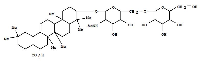 122881-68-9,Olean-12-en-28-oicacid, 3-[[2-(acetylamino)-2-deoxy-6-O-b-D-glucopyranosyl-b-D-glucopyranosyl]oxy]-, (3b)-,3-O-[b-D-Glucopyranosyl-(1®6)-2-acetamido-2-deoxy-b-D-glucopyranosyl]oleanoic acid