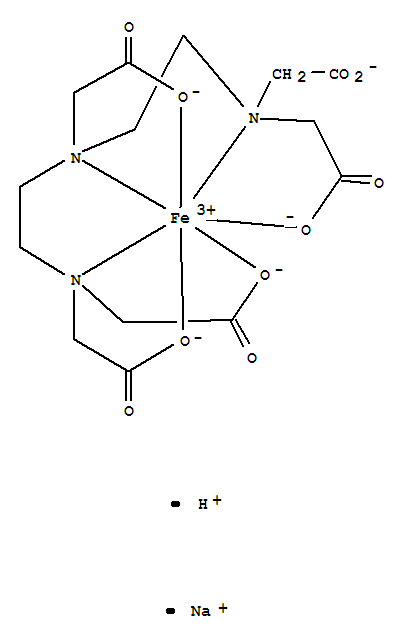 Molecular Structure of 12389-75-2 (Ferrate(2-),[rel-[N(R)]-N-[2-[bis[(carboxy-kO)methyl]amino-kN]ethyl]-N-[2-[(S)-[(carboxy-kO)methyl](carboxymethyl)amino-kN]ethyl]glycinato(5-)-kN,kO]-, sodium hydrogen (1:1:1),(PB-7-13-12564)-)