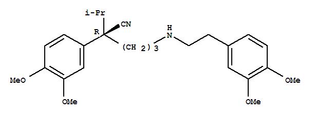 Molecular Structure of 123932-43-4 (Benzeneacetonitrile, a-[3-[[2-(3,4-dimethoxyphenyl)ethyl]amino]propyl]-3,4-dimethoxy-a-(1-methylethyl)-, (aR)-)