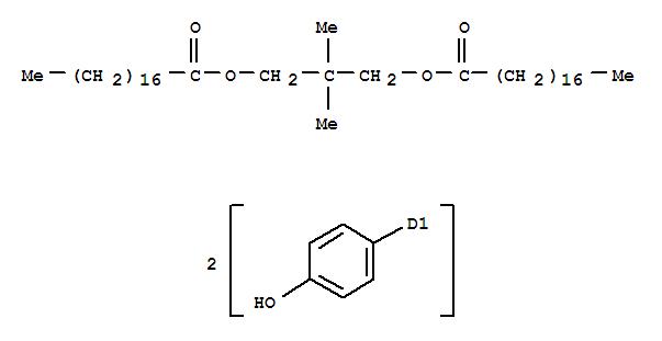 123991-01-5,Octadecanoic acid,(4-hydroxyphenyl)-, 2,2-dimethyl-1,3-propanediyl ester (9CI),NissanUnister H 2P; Unister H 2P