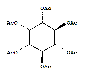Molecular Structure of 1254-38-2 (myo-Inositol,1,2,3,4,5,6-hexaacetate)