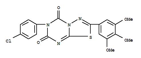 125766-38-3,5H-1,3,4-Thiadiazolo[3,2-a][1,3,5]triazine-5,7(6H)-dione,6-(4-chlorophenyl)-2-(3,4,5-trimethoxyphenyl)-,NSC 633203