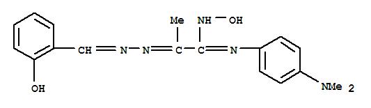 126389-78-4,Propanimidamide,N'-[4-(dimethylamino)phenyl]-N-hydroxy-2-[2-[(2-hydroxyphenyl)methylene]hydrazinylidene]-,Propanimidamide,N-[4-(dimethylamino)phenyl]-N'-hydroxy-2-[[(2-hydroxyphenyl)methylene]hydrazono]-(9CI)