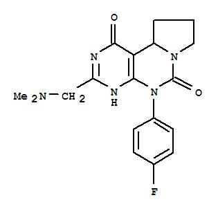 126743-86-0,Pyrimido[5,4-e]pyrrolo[1,2-c]pyrimidine-1,6(2H,5H)-dione,3-[(dimethylamino)methyl]-5-(4-fluorophenyl)-8,9,10,10a-tetrahydro-,