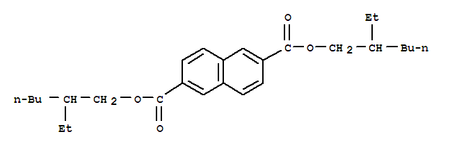 Molecular Structure of 127474-91-3 (2,6-Naphthalenedicarboxylicacid, 2,6-bis(2-ethylhexyl) ester)