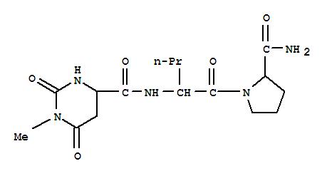 128055-89-0,L-Prolinamide,N-[(hexahydro-1-methyl-2,6-dioxo-4-pyrimidinyl)carbonyl]-L-norvalyl-, (S)-(9CI),