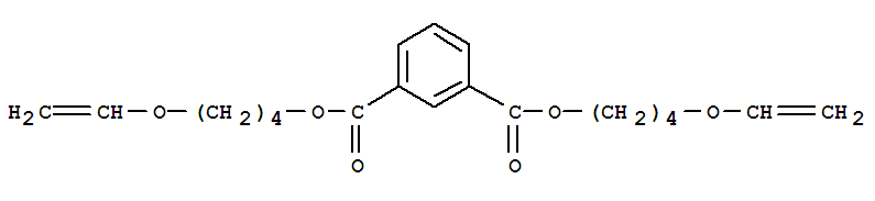 Molecular Structure of 130066-57-8 (1,3-Benzenedicarboxylicacid, 1,3-bis[4-(ethenyloxy)butyl] ester)