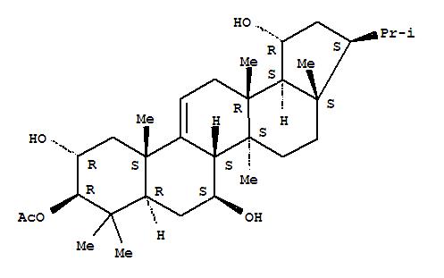 130288-62-9,A'-Neo-26,28-dinorgammacer-9(11)-ene-2,3,7,19-tetrol,13,17-dimethyl-, 3-acetate, (2a,3b,7b,19a,21b)-,D:C-Friedo-B':A'-neogammacer-9(11)-ene-2,3,7,19-tetrol,3-acetate, (2a,3b,7b,8b,13b,14a,17b,18a,19a,21b)-; (+)-Rubiarbonol D; Rubiarbonol D