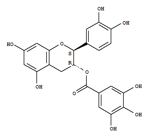 Molecular Structure of 130405-40-2 ((-)-Catechin gallate)