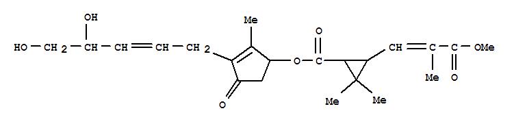 131484-69-0,Cyclopropanecarboxylicacid, 3-(3-methoxy-2-methyl-3-oxo-1-propenyl)-2,2-dimethyl-,3-(4,5-dihydroxy-2-pentenyl)-2-methyl-4-oxo-2-cyclopenten-1-yl ester, [1R-[1a[S*(2Z,4S*)],3b(E)]]- (9CI),