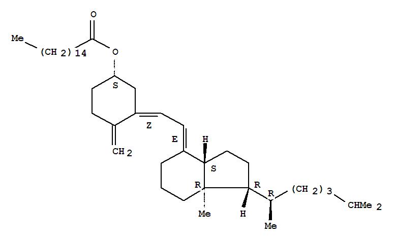 Molecular Structure of 13403-10-6 (9,10-Secocholesta-5,7,10(19)-trien-3-ol,hexadecanoate, (3b,5Z,7E)-(9CI))