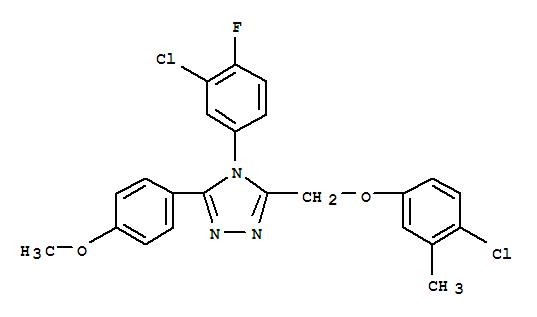 4-(3-CHLORO-4-FLUOROPHENYL)-3-((4-CHLORO-3-METHYLPHENOXY)METHYL)-5-(4-METHOXYPHENYL)-4H[1,2,4]TRIAZOLE